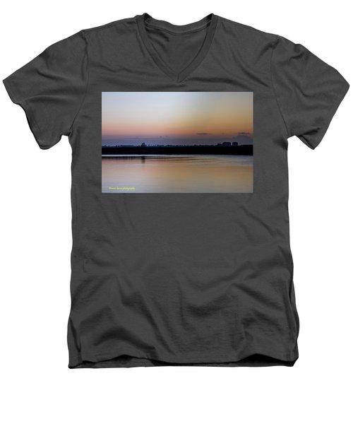 March Pre-sunrise Men's V-Neck T-Shirt by Nance Larson