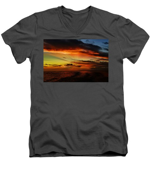 Marco Sunset Rays Men's V-Neck T-Shirt