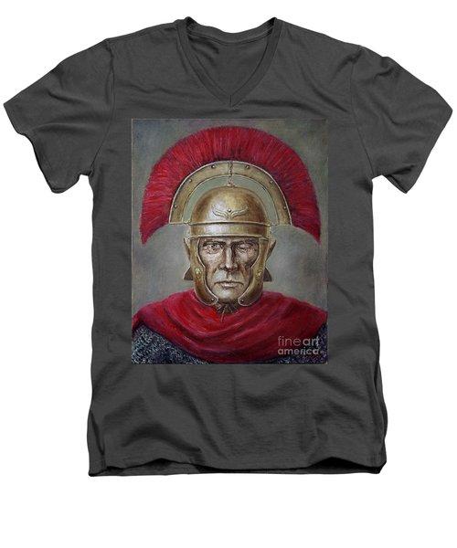 Marcus Cassius Scaeva Men's V-Neck T-Shirt by Arturas Slapsys