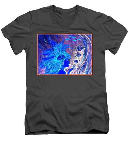 Maremaid  Men's V-Neck T-Shirt