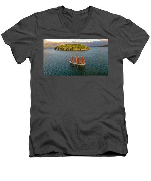 Margaret Todd Schooner Men's V-Neck T-Shirt