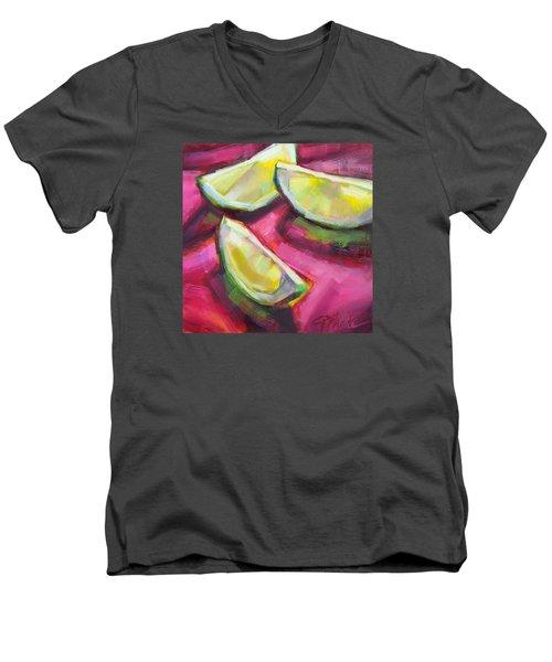Margarita Limes Men's V-Neck T-Shirt by Tracy Male