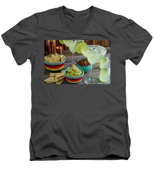Men's V-Neck T-Shirt featuring the photograph Margarita Party by Teri Virbickis