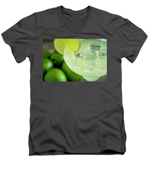 Men's V-Neck T-Shirt featuring the photograph Margaritas Anyone by Teri Virbickis