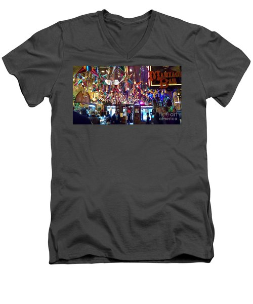 Mariachi Bar In San Antonio Men's V-Neck T-Shirt