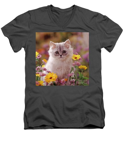 Marigold Chinchilla Men's V-Neck T-Shirt
