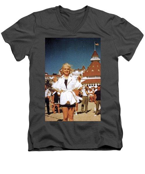 Marilyn And Turrett Men's V-Neck T-Shirt