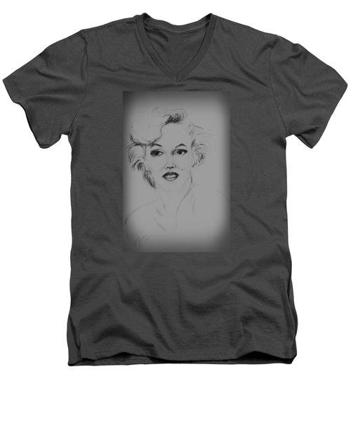 Marilyn Monroe Men's V-Neck T-Shirt by Edgar Torres