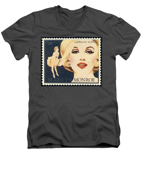 Marilyn Monroe Stamp Men's V-Neck T-Shirt