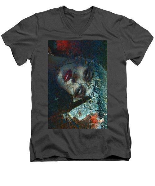 Marilyn Str.3 Men's V-Neck T-Shirt