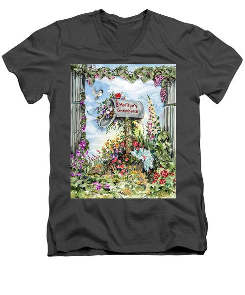 Marilyn's Greenhouse Men's V-Neck T-Shirt