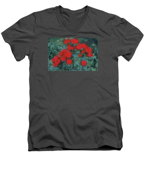 Marilyn's Red Roses Men's V-Neck T-Shirt by The Art Of Marilyn Ridoutt-Greene