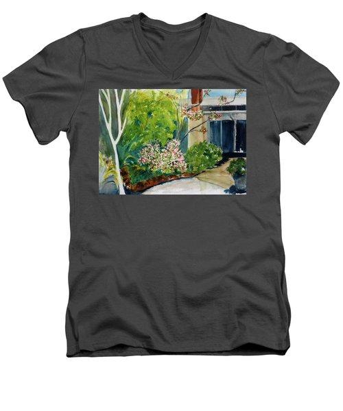 Marin Art And Garden Center Men's V-Neck T-Shirt by Tom Simmons