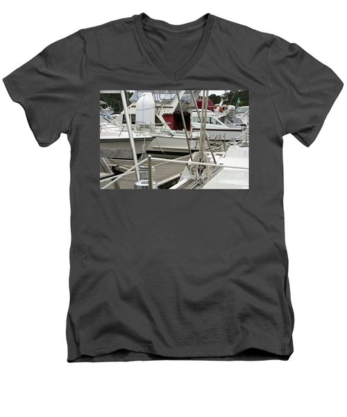 Men's V-Neck T-Shirt featuring the photograph Marina Stuff by Yurix Sardinelly
