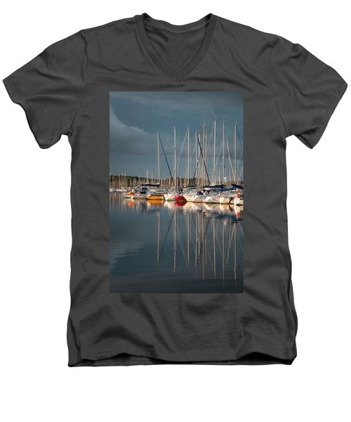 Marina Sunset 8 Men's V-Neck T-Shirt