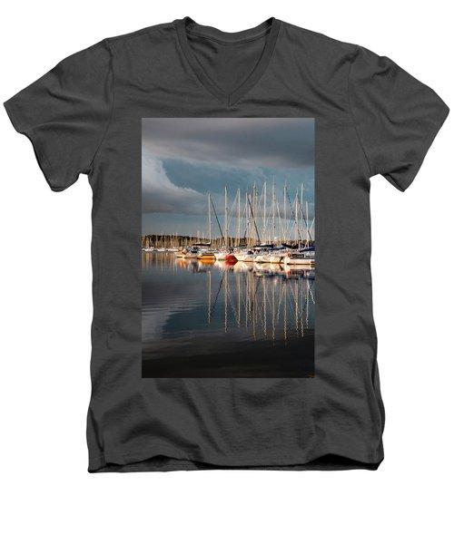 Marina Sunset 9 Men's V-Neck T-Shirt