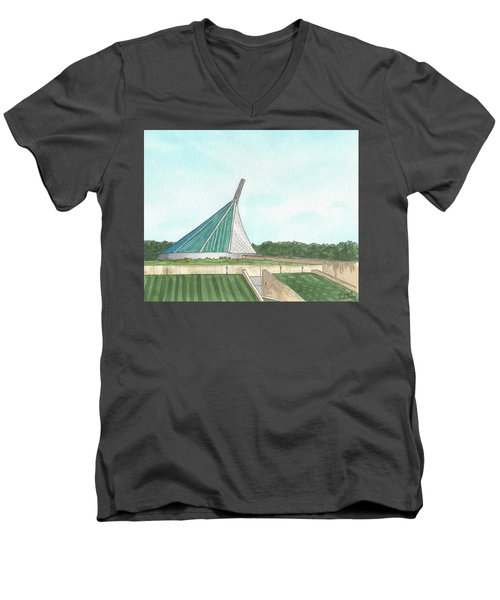 Marine Corps Museum From The Chapel Men's V-Neck T-Shirt