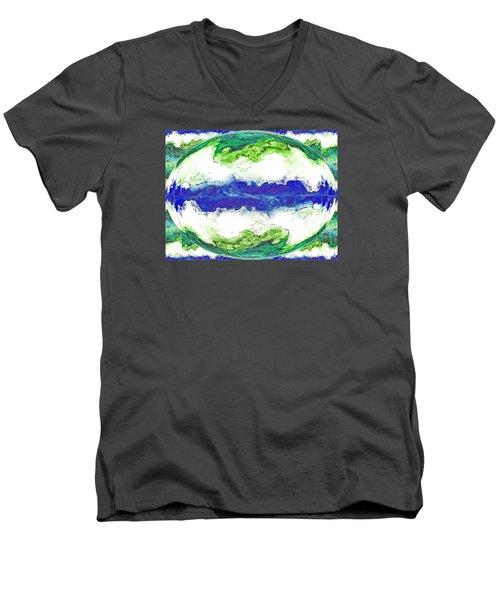 Mariner's Dream Men's V-Neck T-Shirt by Joan Hartenstein