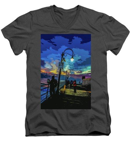 Marine's Silhouette  Men's V-Neck T-Shirt