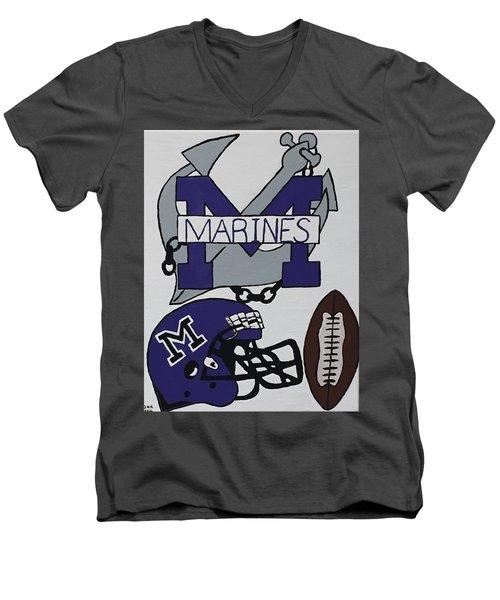 Marinette Marines. Men's V-Neck T-Shirt