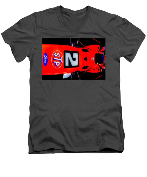 Men's V-Neck T-Shirt featuring the photograph Mario 69 by Michael Nowotny