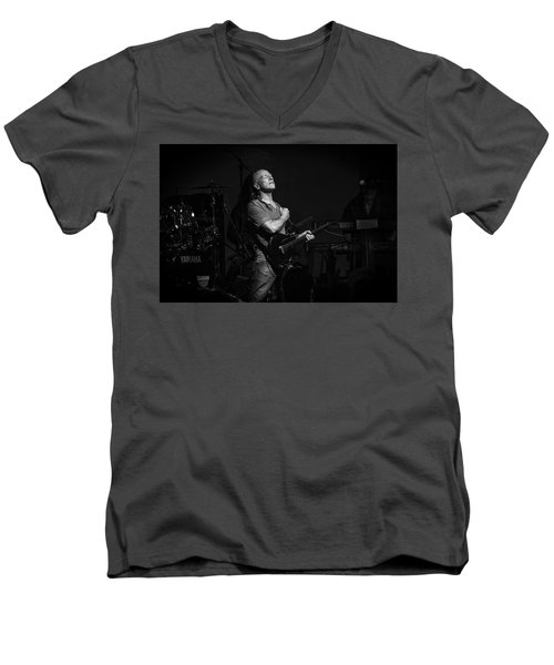 Mark Farner Gfr Men's V-Neck T-Shirt by Kevin Cable