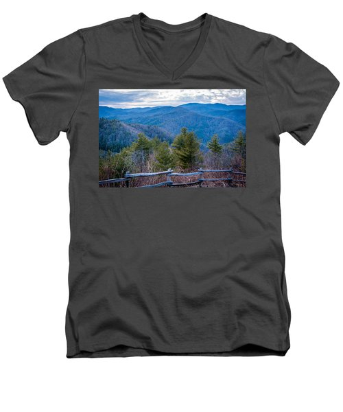 Mark Hannah Overlook Cataloochee Men's V-Neck T-Shirt