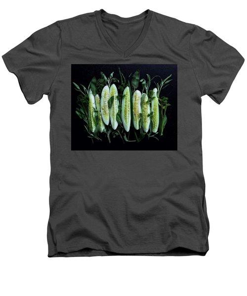 Market Cucumbers Men's V-Neck T-Shirt