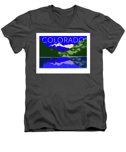 Maroon Bells Day Men's V-Neck T-Shirt