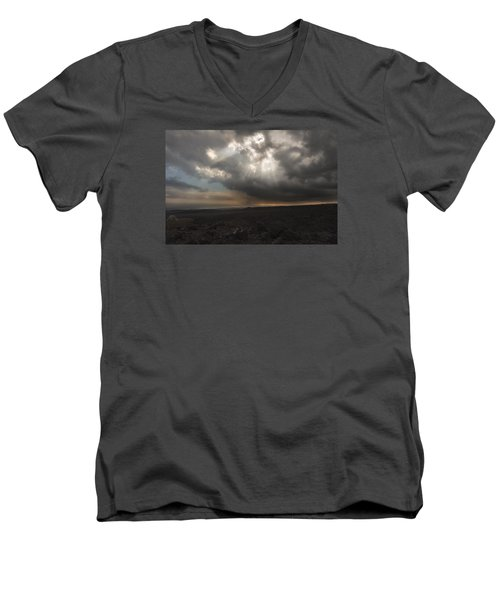 Men's V-Neck T-Shirt featuring the photograph Mars Landscape by Ryan Manuel