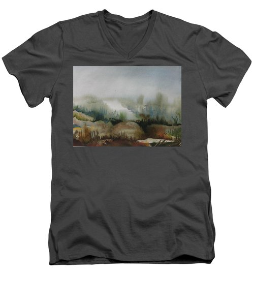 Marsh Men's V-Neck T-Shirt by Anna  Duyunova