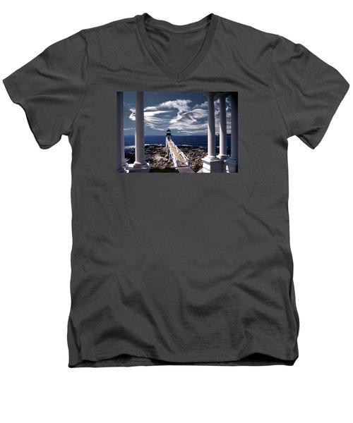 Marshall Point Lighthouse Maine Men's V-Neck T-Shirt