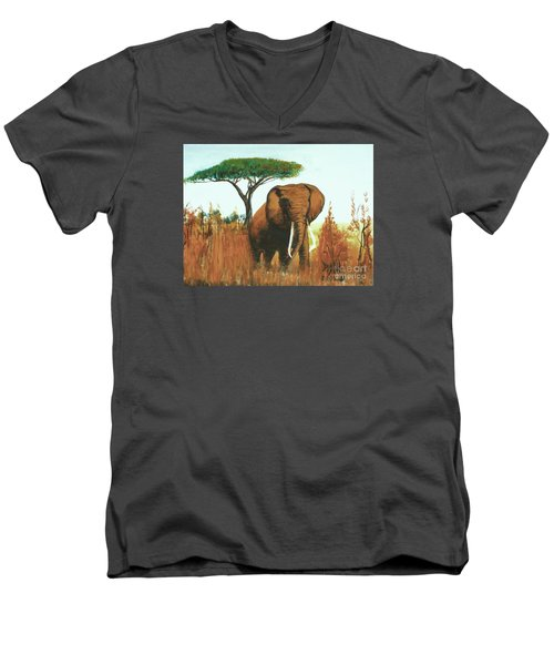 Marsha's Elephant Men's V-Neck T-Shirt