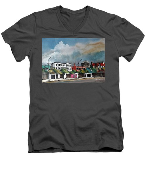 F  732 Martello Tower Bray Seafront Wicklow.. Men's V-Neck T-Shirt