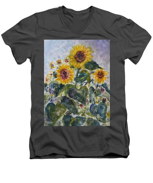Martha's Sunflowers Men's V-Neck T-Shirt