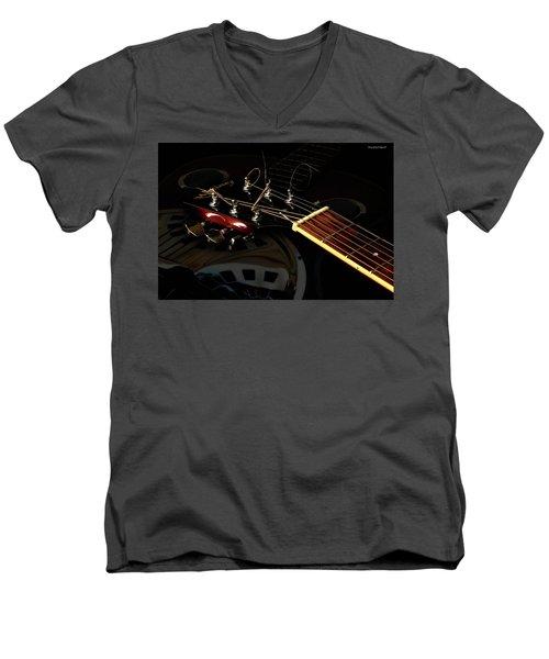 Martinez Guitar 003 Men's V-Neck T-Shirt by Kevin Chippindall