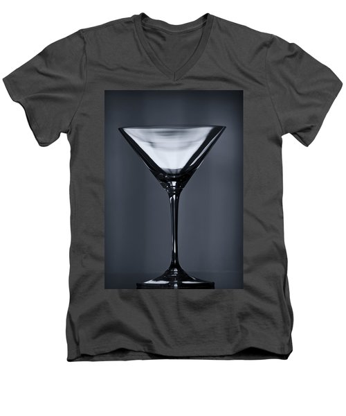 Martini Men's V-Neck T-Shirt by Margie Hurwich