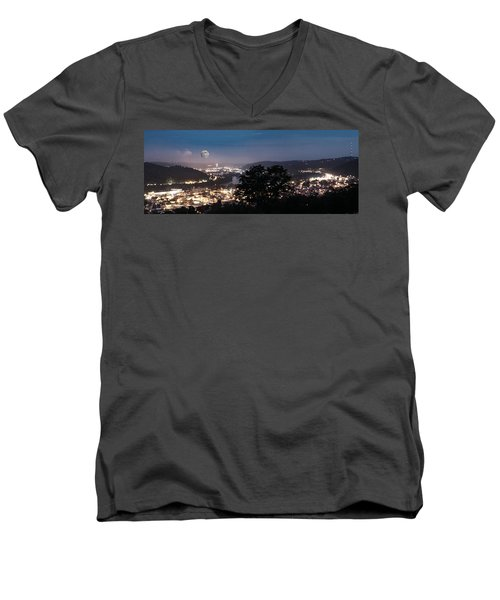 Martins Ferry Night Men's V-Neck T-Shirt