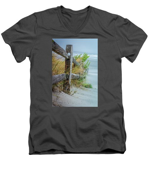 Marvel Of An Ordinary Fence Men's V-Neck T-Shirt by Patrice Zinck