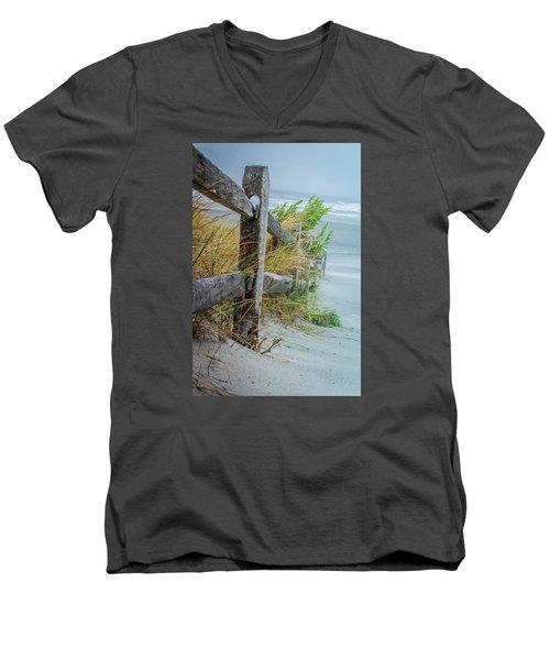 Marvel Of An Ordinary Fence Men's V-Neck T-Shirt
