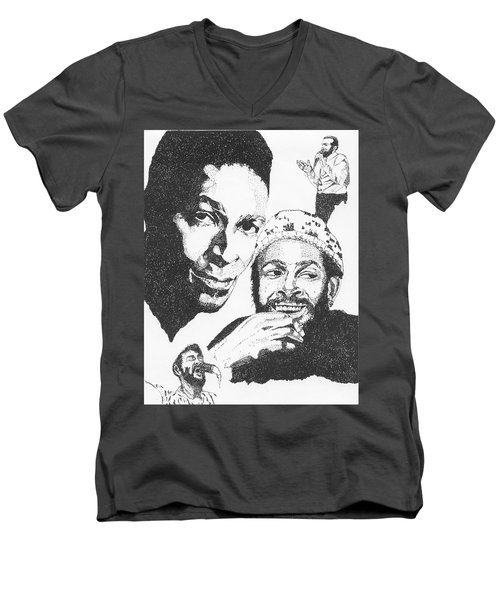Marvin Gaye Tribute Men's V-Neck T-Shirt