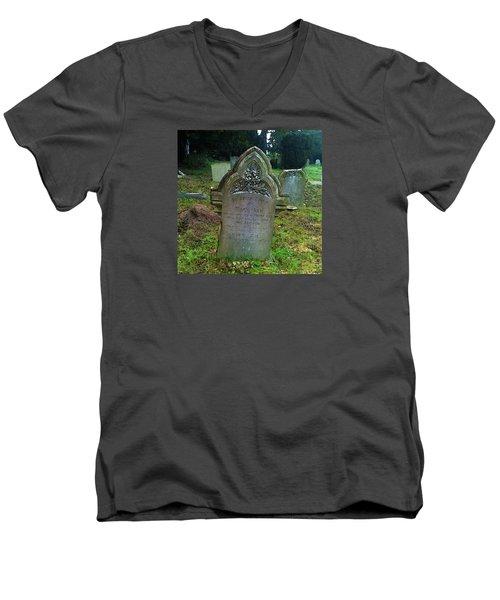 Mary Ann Men's V-Neck T-Shirt by Anne Kotan