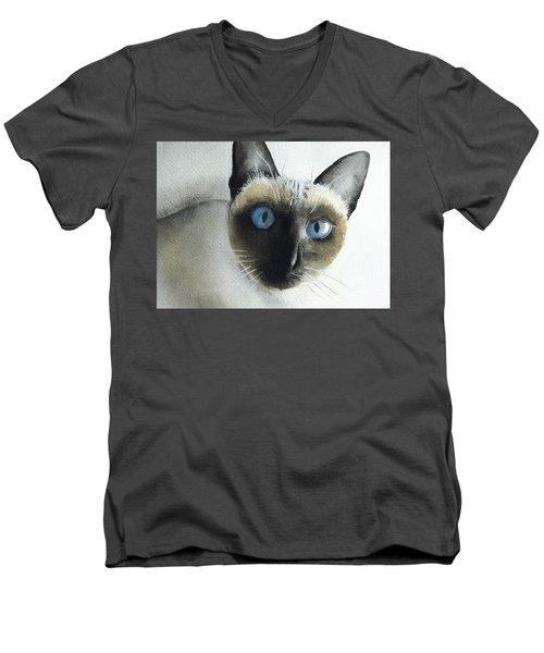 Mary Cat Men's V-Neck T-Shirt