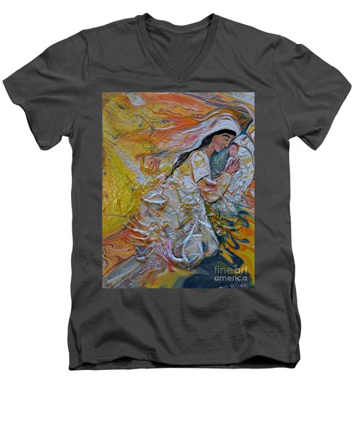 Mary Did You Know Men's V-Neck T-Shirt