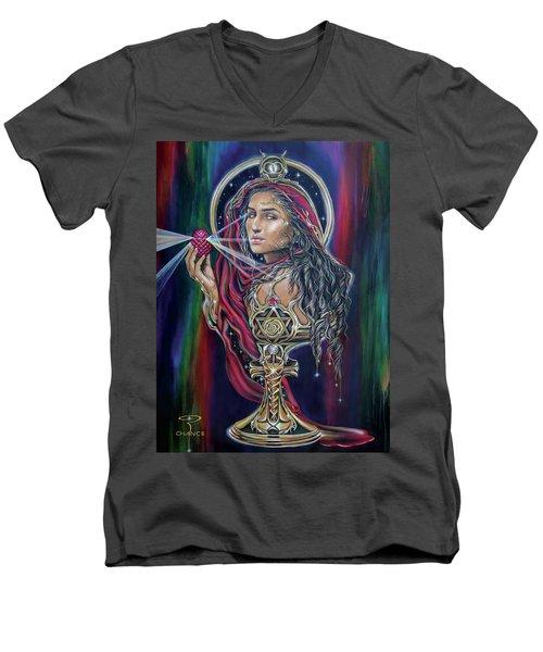 Mary Magdalen - The Holy Grail Men's V-Neck T-Shirt