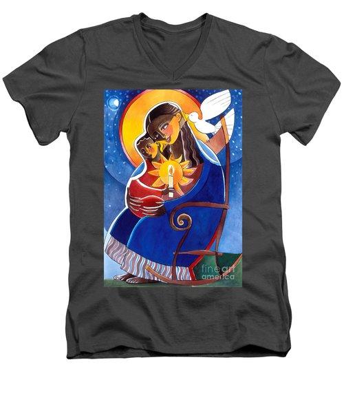 Mary, Seat Of Wisdom - Mmwis Men's V-Neck T-Shirt