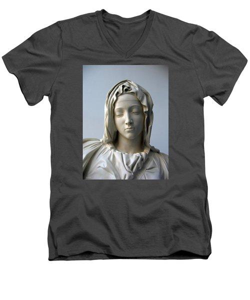 Mary Men's V-Neck T-Shirt by Suhas Tavkar