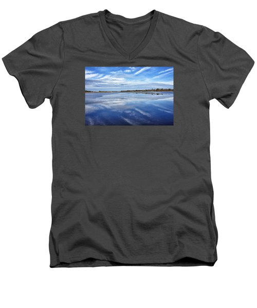 Men's V-Neck T-Shirt featuring the photograph Maryland - Blackwater National Wildlife Refuge by Brendan Reals