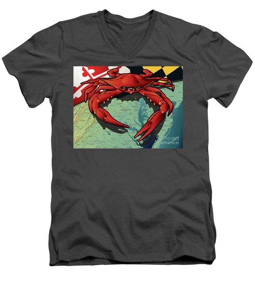 Maryland Red Crab Men's V-Neck T-Shirt