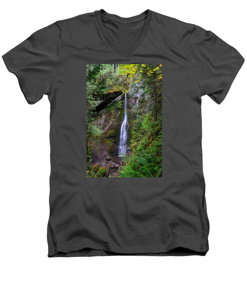 Marymere Falls Men's V-Neck T-Shirt